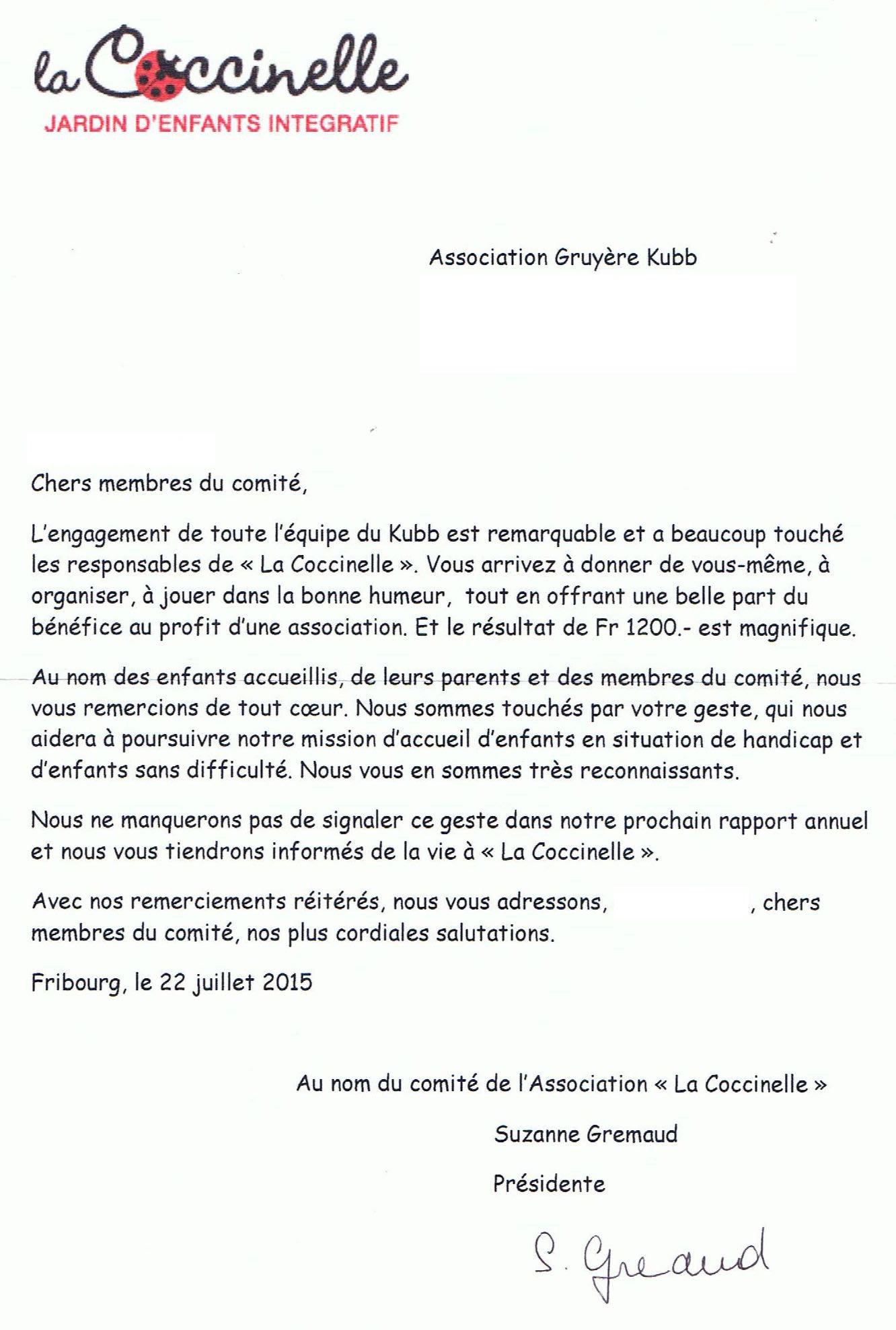 Remerciement Coccinelle